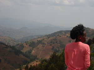 Juliet overlooking Karongi District, Western Province