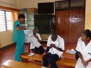 Melissa working with nursing students in Butare, Rwanda
