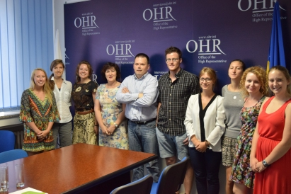 At the Office of the High Representative in Banja Luka