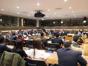 State representatives to the UN, NGO representatives, and others packed into the briefing room to listen to UN Human Rights in Peacekeeping Component leaders such as Scott Campbell, who was deported from DR Congo for raising concerns in a public report.