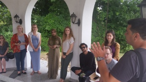 2015 GYC Bosnia Delegates meeting with CIM Co-Founder, Vahidin Omanovic, at a memorial in his village