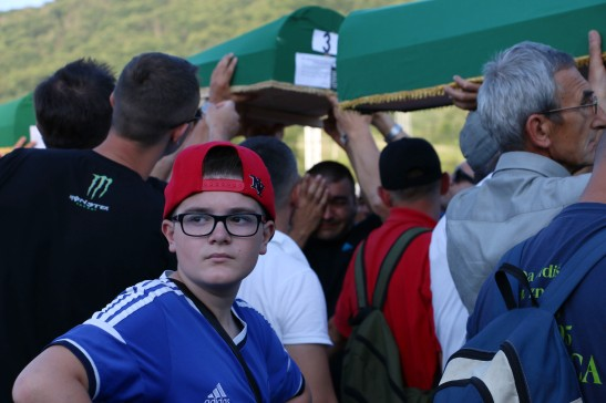 Mourners at the 2015 Srebrenica 20th Commemoration. Photo by Yumna Mohamed